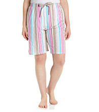 Jockey® Plus Size Sensual Stripe Knit Bermuda