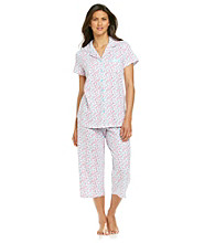 KN Karen Neuburger Pink Ditsy Knit Girlfriend Pajama Set