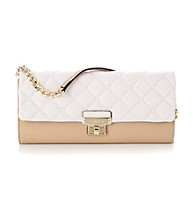 Calvin Klein® White/Nude Geneva Leather Clutch