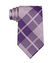 John Bartlett Statements Men's Purple Astor Grid Tie