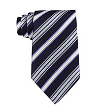 Kenneth Roberts Platinum® Men's Navy Variety Stripe Silk Tie