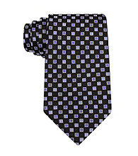 Kenneth Roberts Platinum® Men's Black Portugal Neat Silk Tie