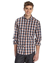 John Bartlett Consensus Men's Orange Papaya Plaid Button Down Shirt