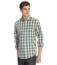 John Bartlett Consensus Men's Ocean Breeze Plaid Button Down Shirt