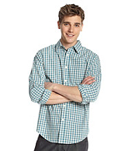 John Bartlett Consensus Men's Daybreak Blue Gingham Plaid Button Down Shirt