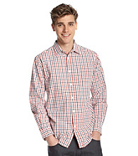 John Bartlett Consensus Men's Tigers Eye Tattersal Plaid Button Down Shirt