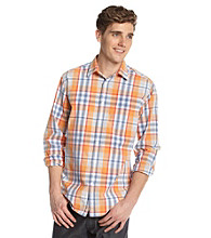 John Bartlett Consensus Men's Atom Orange Ombre Plaid Button Down Shirt
