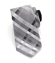 Perry Ellis Portfolio® Men's Black Sardinia Plaid Tie
