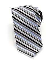Perry Ellis Portfolio® Men's Black Campania Stripe Tie