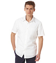 Perry Ellis® Men's Bright White Short Sleeve Dobby Woven