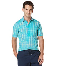 Perry Ellis® Men's Azzuro Short Sleeve Dobby Woven