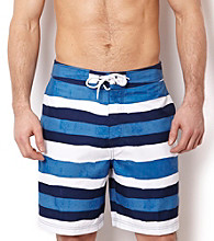 Nautica® Men's Naval Blue Opensea Stripe Surf Swim Short