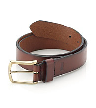 Levi's® Men's Brown 35MM Hand Tack Leather Belt