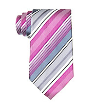 Kenneth Cole REACTION® Men's Ruby Stripe Regular Width Silk Tie