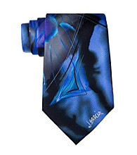 Jerry Garcia Men's Blue Abstract Brush Strokes Silk Tie