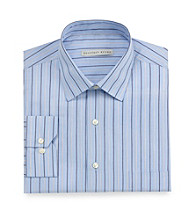 Geoffrey Beene® Men's Blue Velvet Stripe Long Sleeve Dress Shirt