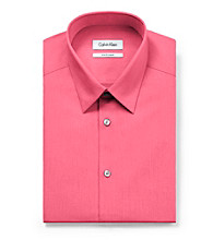 Calvin Klein Men's Orchid Pink Solid Long Sleeve Dress Shirt