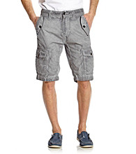 Guess Men's Jet Black Safari Cargo Short