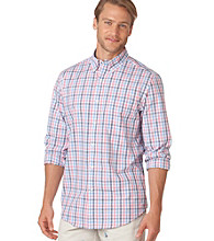 Chaps® Men's Brite Pink Windy Pines Tattersall Shirt