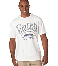 Chaps® Men's White Catfish Tavern Tee