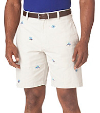Chaps® Men's Stone Embroidered Fishing Lure Shorts