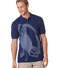 Chaps® Men's Deep Atlantic Crab Print Short Sleeve Polo