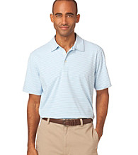 Chaps® Men's Caribbean Blue Short Sleeve Stripe Polo