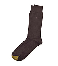 GOLD TOE® Men's Rayon Rib Crew Socks