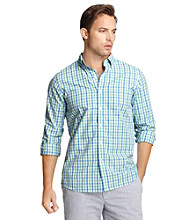 Izod® Men's Long Sleeve Button Down Tattersall