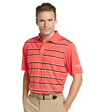 Callaway® Men's Short Sleeve Stripe Polo with Vented Back