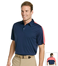 Callaway® Men's Navy Short Sleeve Colorblocked Polo With Vented Back