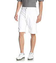Callaway® Men's Bright White Flat Front Cargo Tech Shorts