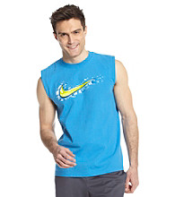 Nike® Men's Photo Blue Liquid Swoosh Sleeveless Tee