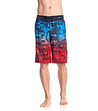 Speedo® Men's Blue Aster Digital Palm E-Board Short