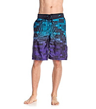 Speedo® Men's Prism Violet Digital Palm E-Board Short