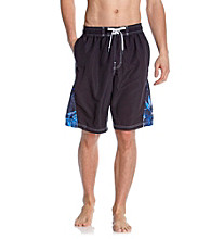 Speedo® Men's Black Weathered Floral Splice Volley Short