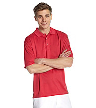 PGA TOUR® Men's Jazzy Pink Solid Mesh Polo