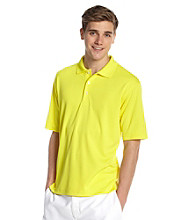 PGA TOUR® Men's Buttercup Yellow Solid Mesh Polo