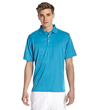 PGA TOUR® Men's Blue Jewel Solid Mesh Polo