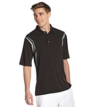 PGA TOUR® Men's Caviar Black Ergo Print Polo