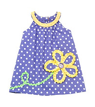 Rare Editions® Baby Girls' Purple Polka-Dot Dress