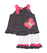 Rare Editions® Baby Girls' Black/Pink Butterfly Set