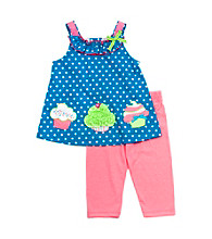 Rare Editions® Baby Girls' Blue/Pink Cupcake Set