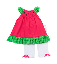 Rare Editions® 12M-4T Girls' Fuchsia Watermelon Set