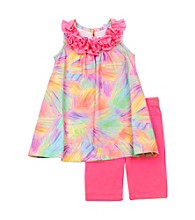 Rare Editions® Baby Girls' Pink Tie-Dye Knit Set
