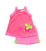Rare Editions® Baby Girls' Neon Pink Strawberry Set