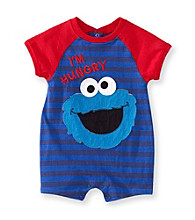 Nannette® Baby Boys' Blue Cookie Monster Romper
