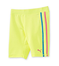 PUMA® Girls' 7-16 Neon Yellow Biker Shorts