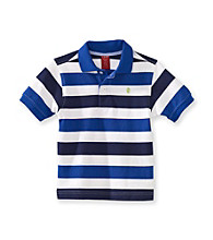 Izod® Boys' 4-20 Blue Short Sleeve Striped Polo