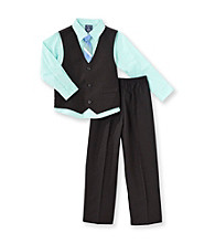 Izod® Boys' 2T-7 Black/Green 3-pc. Dressy Vest Set